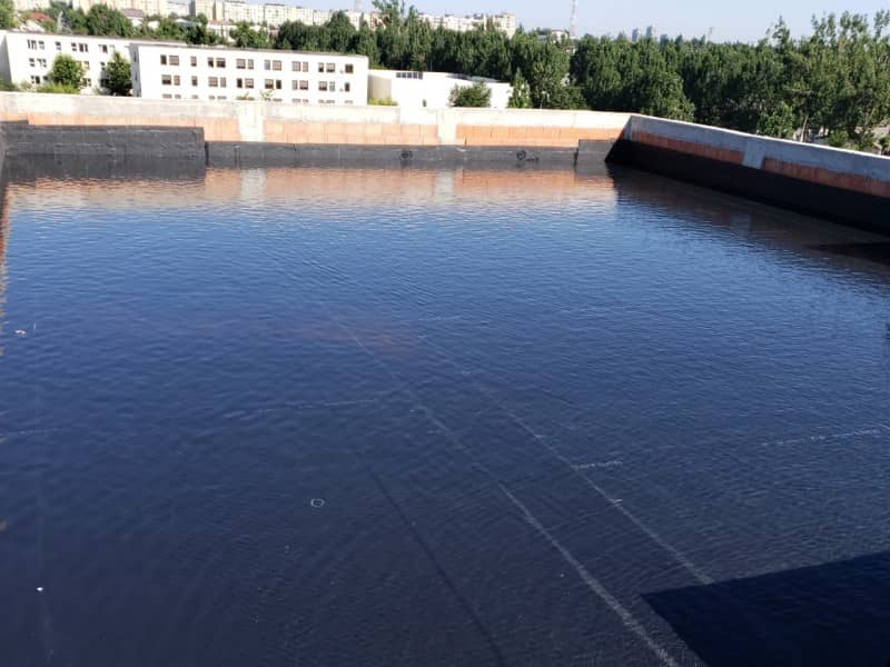 Montaj hidroizolatie acoperis - final test 48 ore cu apa