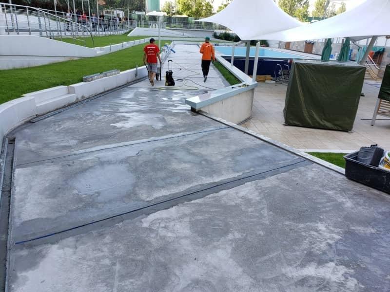 Refacere hidroizolatie piscina - dupa turnarea sapei
